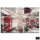London Collage Grunge  City BOX FRAMED CANVAS ART Picture HDR 280gsm