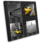 New York Yellow Taxi Flag  City CANVAS WALL ART Picture Print VA