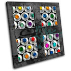 Spray Cans Abstract  Graffiti CANVAS WALL ART Picture Print VA