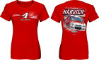 LADIES MISSY FIT KEVIN HARVICK #4 BUDWEISER RED FULL THROTTLE NASCAR TEE SHIRT
