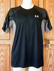 Under Armour Men's ColdBlack Engaged Running HG Fitted Black T Shirt 1236186 005