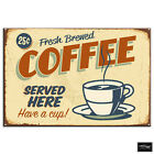 Shabby Chic Coffee Shop  Vintage BOX FRAMED CANVAS ART Picture HDR 280gsm