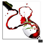 Wine Glass   Food Kitchen BOX FRAMED CANVAS ART Picture HDR 280gsm