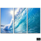 Wave   Sunset Seascape BOX FRAMED CANVAS ART Picture HDR 280gsm