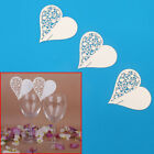 Lots Heart Wedding Name Place Cards For Wine Glass Laser Cut On Pearlescent Card