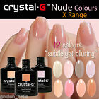 Crystal-G NUDE INTIMATE Colour Range Gel Polish UV LED Nail Varnish Soak Off
