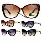 VG Eyewear Womens Metal Chain Arm Large Rhinestone Butterfly Sunglasses