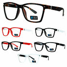 SA106 Rectangular Squared Horn Rim Classy Nerd Clear Lens Eye Glasses