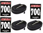 3-Pack Kenda 700x18-23-25C 48mm Threaded Presta Valve Road Bicycle Inner Tubes