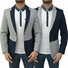 Mens Designer Swade Blazer Coat Tailored Fit Fleece Style Suit Top Jacket JKT293