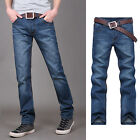 "Mens Juniors Boy Regular Fit Straight Leg Denim Washed Jeans Pants Waist 29""-38"""