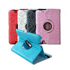 Luxury 360 Rotating Diamond Folio Leather Cover Case for Kindle Fire HD/Fire HDX