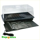 HYDROPONICS CLONING SYSTEM WITH 72 CELL SEEDING TRAY DOME CLEAR LID HEAT MAT
