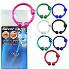 Fake Nose Lip Ring STERLING SILVER Cheat Jewellery Piercing Small 8mm Colours
