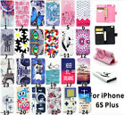 Card Holder Stand Fashion Flip Leather Wallet Case Cover for iPhone 6S Plus 5.5""