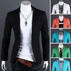NEW Stylish Mens Linen Casual Slim Fit One Button Suit Blazer Coat Jacket Formal