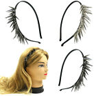 Kyпить  Spikes Black Headband Wrapped with Satin Silver Hematite FashionSolid на еВаy.соm