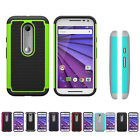 Hybrid Rugged Rubber Impact Case Cover Skin for Motorola Moto G 3rd Gen 2015