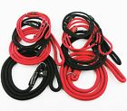 Pet Dog Slip Leads Collar S - XL Leash Rope Leather Training Red Black 7-13mm