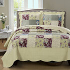 Tania Oversized Bedspread Wrinkle Free and Soft Reversible Modern Coverlet Set image