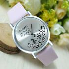2015 Women Leather Watch Who Cares I am Late Anyway Letter Quartz WristWatches