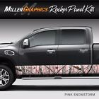 Camo Pink Snow Rocker Panel Graphic Decal Wrap Kit Truck SUV 12 x 24 feet