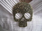 Kette Collier Halskette Skull Totenkopf Gothic Retro Piraten Gold Piraten Vintag