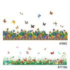 Butterflies Grass Wall Stickers Home Decor Mural Art Decals Children Kids Room