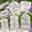 Personalised White Wedding Favour Tags/ Thank You Tags/ Gift Tags with Twine III
