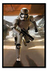 Framed Star Wars Episode 7 The Force Awakens Stormtrooper Running Poster New £29.95 GBP