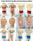 MEN SIX PACK WOMEN NAKED T-SHIRT FANCY PARTY COSTUME DRESS NOVELTY WEDDING GIFT