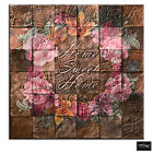 Home Natural Floral  Vintage BOX FRAMED CANVAS ART Picture HDR 280gsm