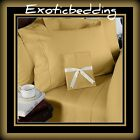 1200 Thread Count 4-Piece Egyptian Cotton Sheet Set - Gold Plain