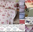 100% Cotton Flannelette Sheets Fitted Flat Pillowcases Bedding Many Sizes New!