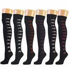 Womens Ladies Girls Over Knee Thigh High Long Socks New Lot
