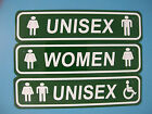 Men's & Women's Handicap Accessible Restroom Sign 4X16 Aluminum