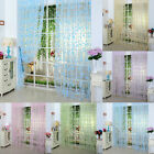 Bedroom Floral Tulle Voile Door Window Curtain Drape Panel Scarf Sheer Valances