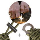 Gonex Survival Paracord Bracelet Outdoor Flint Fire Starter Scraper Whistle