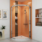Single Sliding Door Quadrant Corner Walk in Shower Enclosure Cubicle with Tray