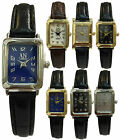 AN London Classic Small rectangle Dial And Leather Strap Ladies Women Watches