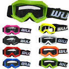 Wulfsport Cub Abstract Kids Youth Motorbike Motocross Goggles Red Grey Pink Blue