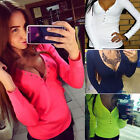 Fashion Women Autumn Vest Top Long Sleeve Blouse Casual Tank Tops T-Shirt