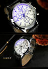 New Arrival ! Fashion Men's Stainless Steel Leather Quartz Wrist Watch Watches