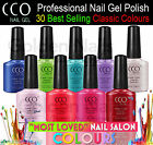 NEW CCO UV LED PROFESSIONAL NAIL GEL SOAK OFF POLISH COLOURS TOP BASE COAT
