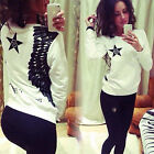 Womens Fashion Long Sleeve Pullover Outwear Jumper Casual Sweater Tops Size 6-14