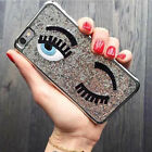 Funny Bling Electroplate Shining 3D Eye Back Case Cover For iPhone 6 6S Plus 5/S