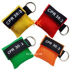 CPR MASK WITH KEYCHAIN CPR FACE SHIELD POCKET AED 4 COLORS WRITING CPR 30:2 NEW