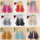 New Fashion Soft Wrap Sunscreen Women Chiffon Butterfly Floral Long Shawl Scarf