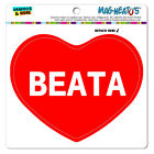 MAG-NEATO'S™ Car Refrigerator Vinyl Magnet I Love Heart Names Female B Baba