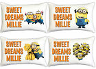 Despicable Me Minions Kids Personalised Pillow Case Childrens Bedroom Gift Idea